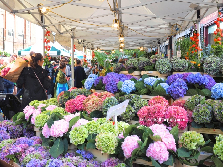 The Start Of Something Big >> COLUMBIA ROAD FLOWER MARKET - S Marks The Spots