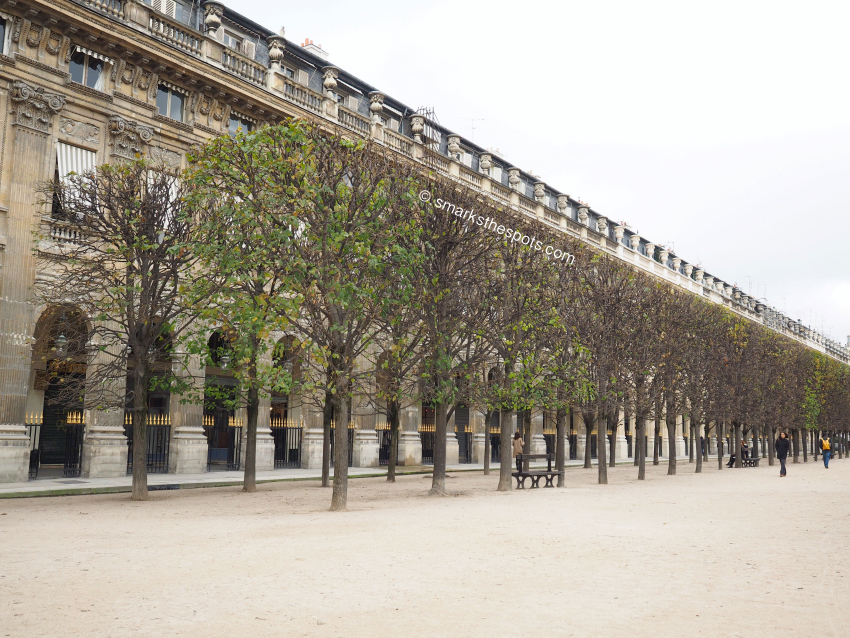 jardin du palais royal - s marks the spots