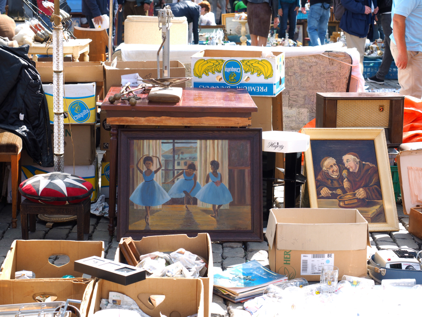 Place du Jeu de Balle flea market, Brussels - S Marks The Spots Blog