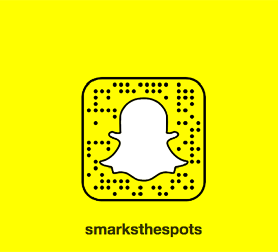 @smarksthespots on Snapchat - S Marks The Blog